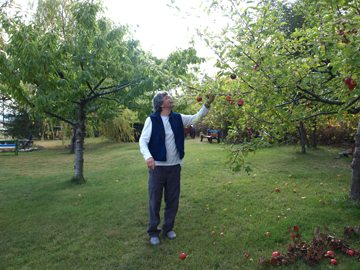 Andrew in Orchard