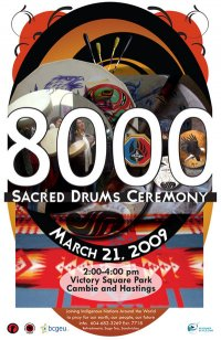 8000 sacred drums Vancouver