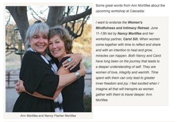 Ann Mortifee endorses Upcoming Workshop